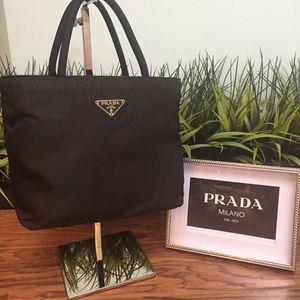 Auth Prada Nylon Bag Tessuto City Black